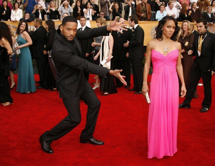 Will Smith presentando a su esposa Jada