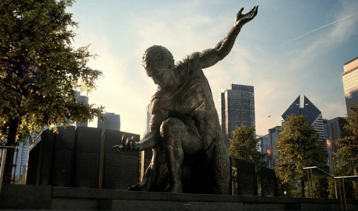 estatua de superman