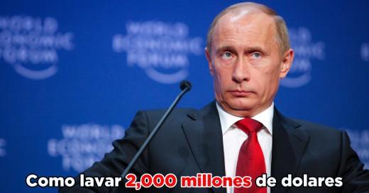Lavado de dinero por 2,000 millones de dólares 'apunta' a Putin; ¡Él acusa a la CIA!