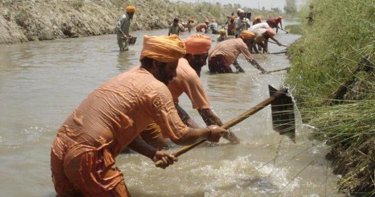 Sant Balbir Singh Seechewal trabajando