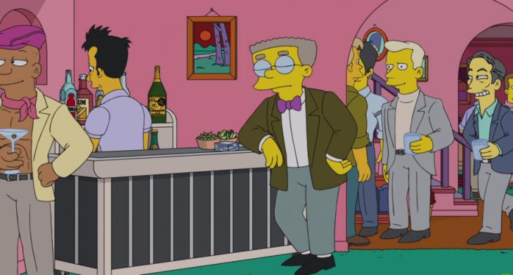 Smithers finalmente sale clóset