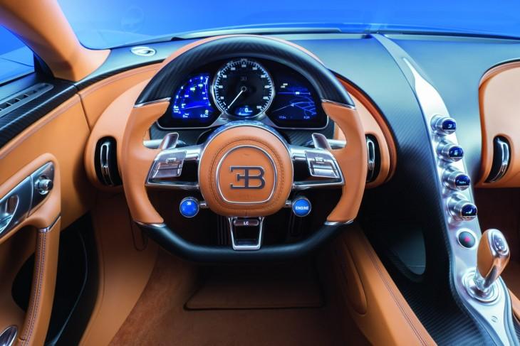 Volante de un Bugatti Chiron
