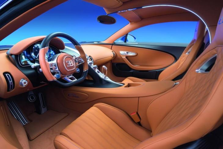 Interior de un Bugatti Chiron