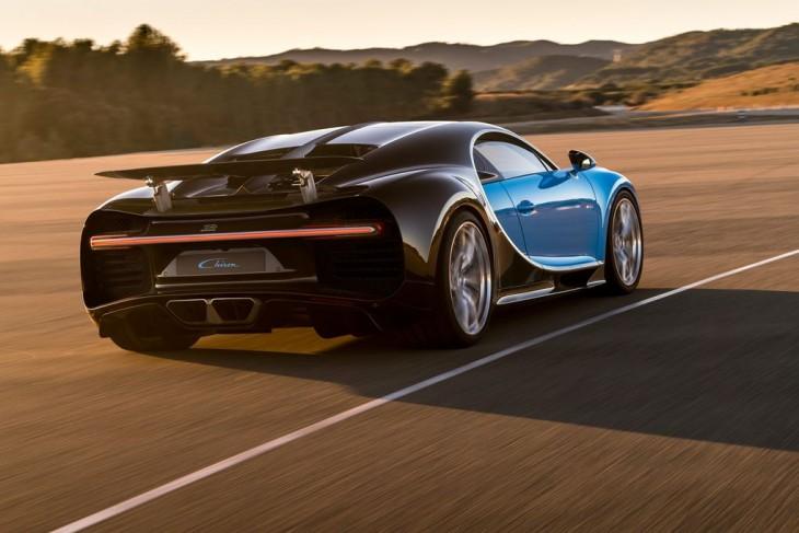 Chiron Bugatti en la carretera