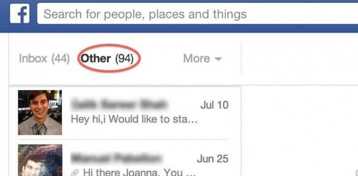 Facebook y su bandeja de mensajes secreta
