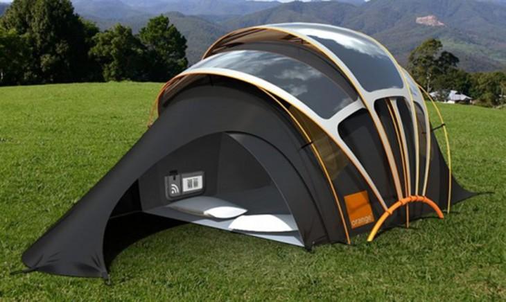casa de campaña solar