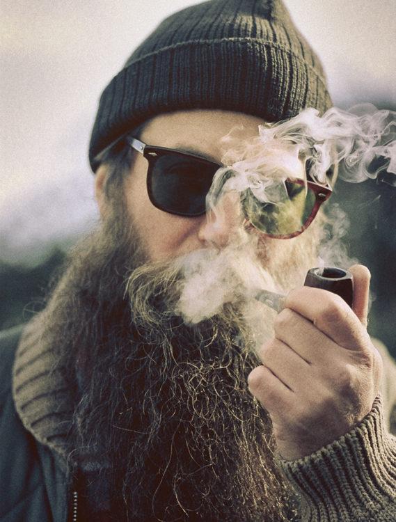 barba fumar