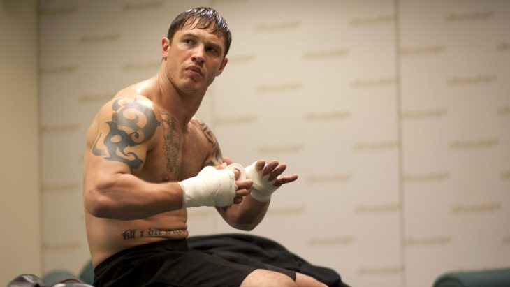 Tom Hardy en la película Warrior