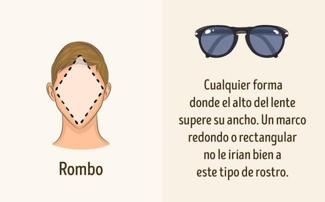 lentes para rostro rombo