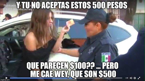 memes lady 100 pesos