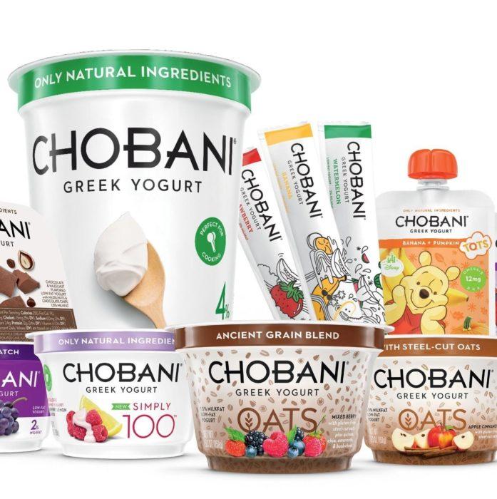 Variedad de productos Chobani