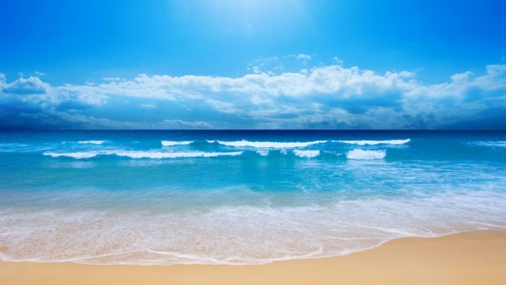 Playa en el océano Pacífico