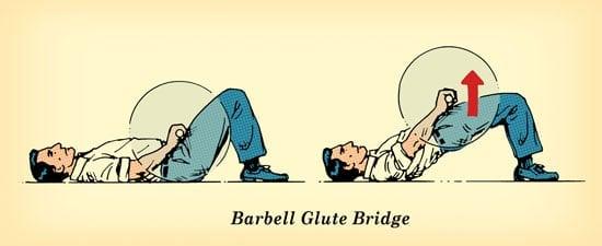 Ejercicio de puente con mancuernas