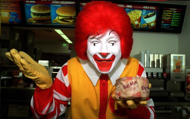 Un atemorizante Ronald McDonald