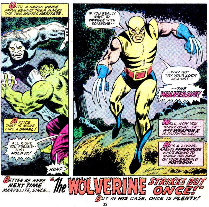 Primera aparición de Wolverine en cómics