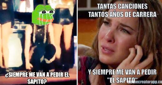 15 Memes de #LadySapito; así se burlaron de Belinda por no querer cantar 'El Sapito'