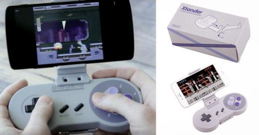 ¿Extrañas el Super Nintendo? ¡Ahora este control te dejará jugar desde tu Celular!
