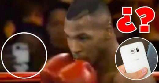 Video de Mike Tyson en 1995 podría demostrar los Viajes en el Tiempo ¿¡Es un smartphone!?