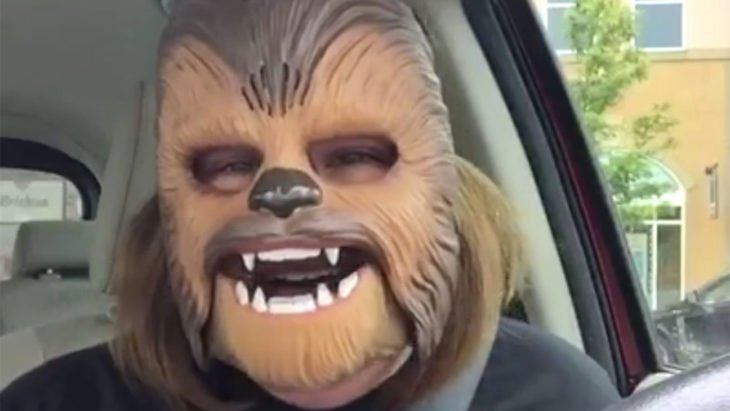 Chewbacca Feliz, la más popular en Facebook