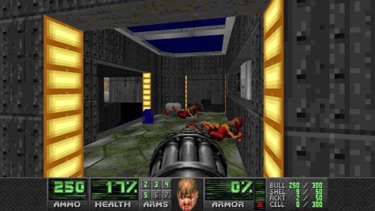 Ametralladora Doom antes