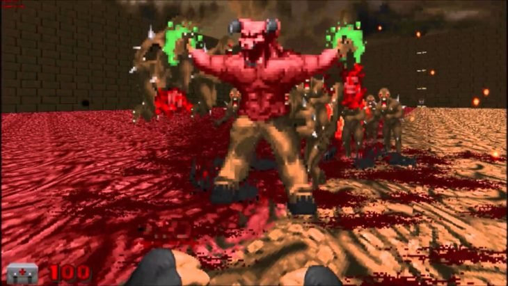 Doom antes Barons of Hell