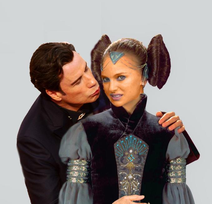 Natalie portman y Travolta