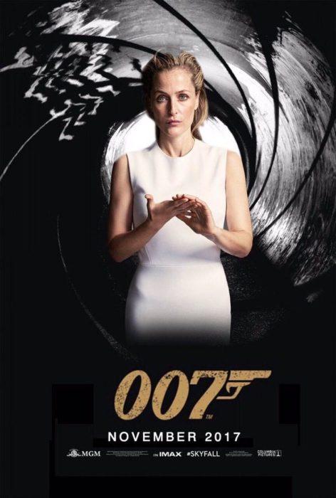 Gillian Anderson como james bond