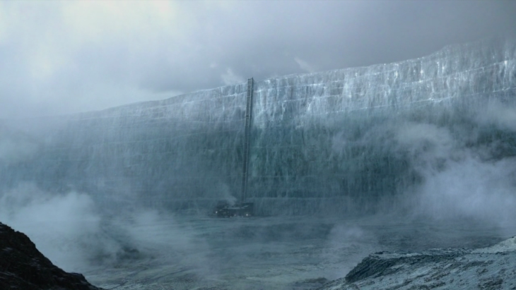 Muro de hielo en Game of Thornes