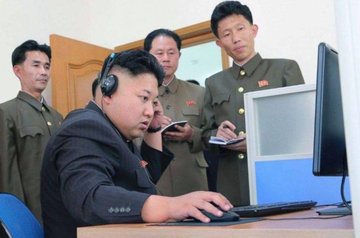 kim jung en computadora