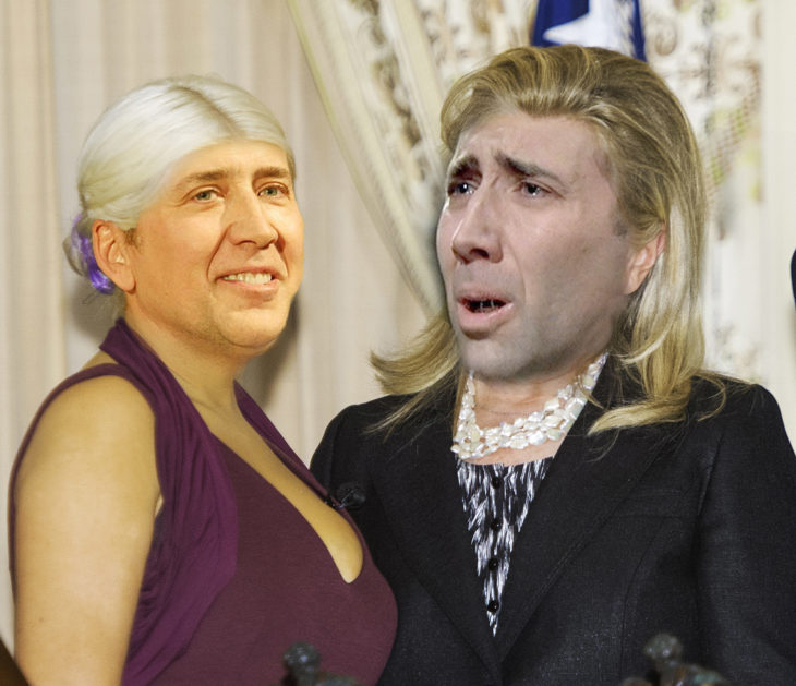 Hillary Clinton y Cristina Aguilera