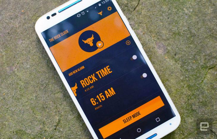 App de La Roca para despertarte
