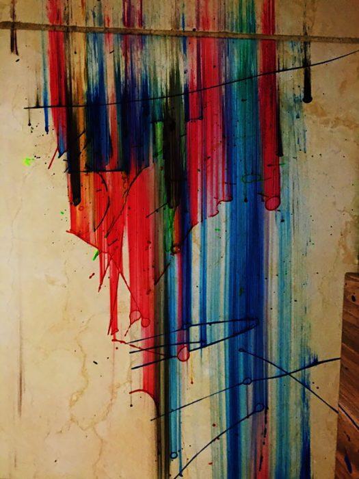 pintura en el piso