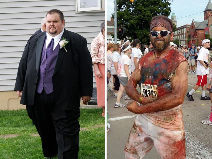 hombre adelgaza de 250 a 99 kilos