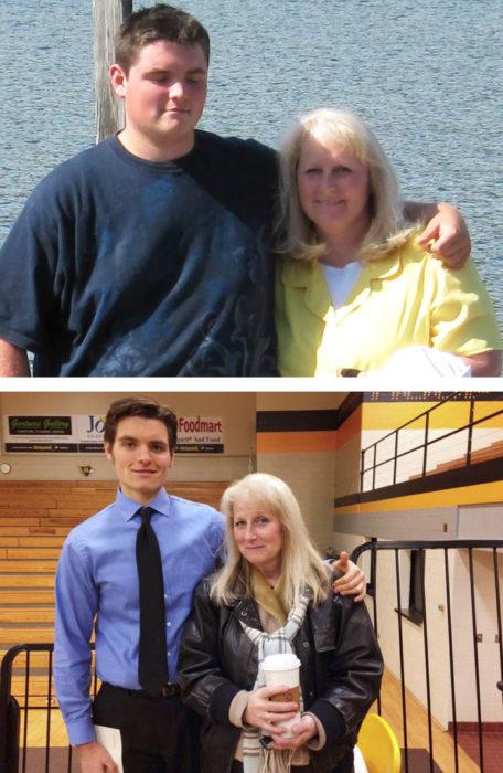 mama e hijo bajan de peso