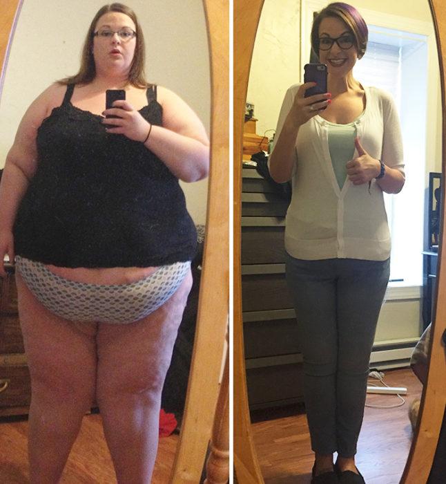 chica baja de peso 127 kilos
