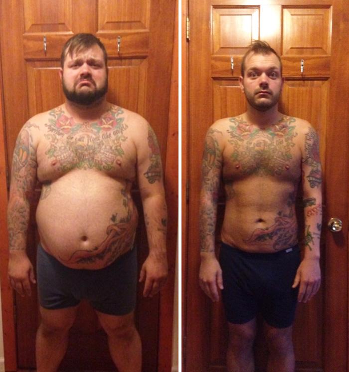 hombre bajó 50 kilos en un año