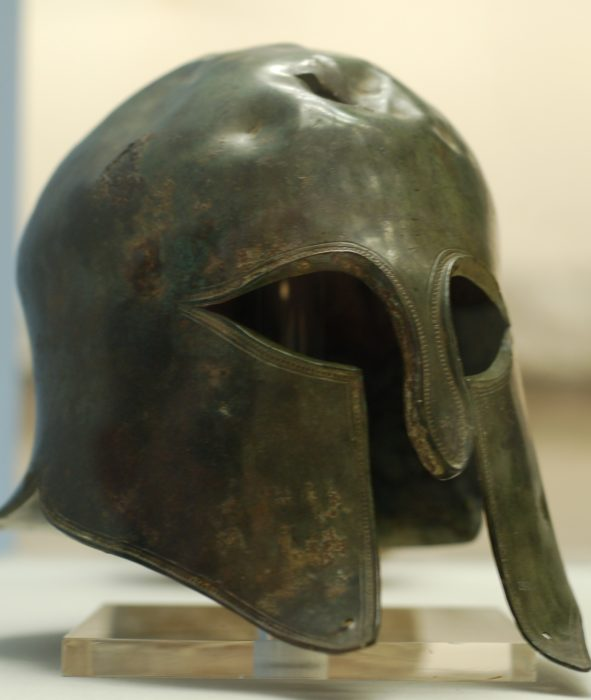 Casco espartano