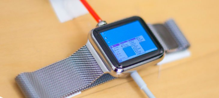 Reloj Apple que corre Windows 95