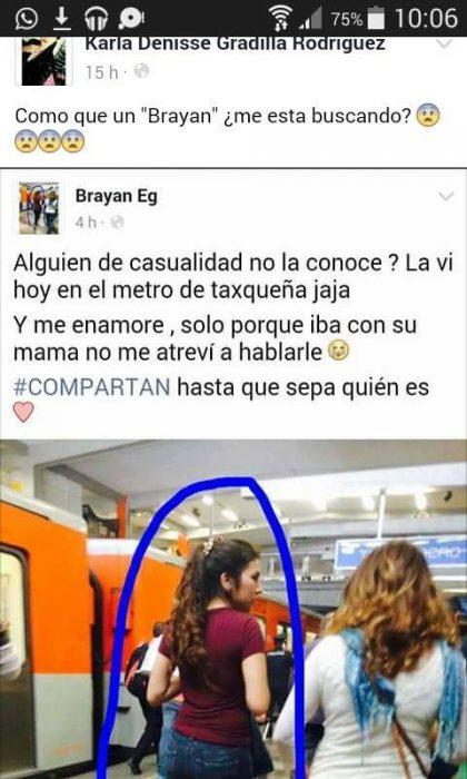post de Facebook de Karla Denisse