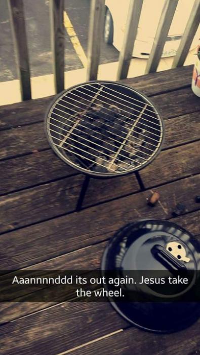 asador con carbon