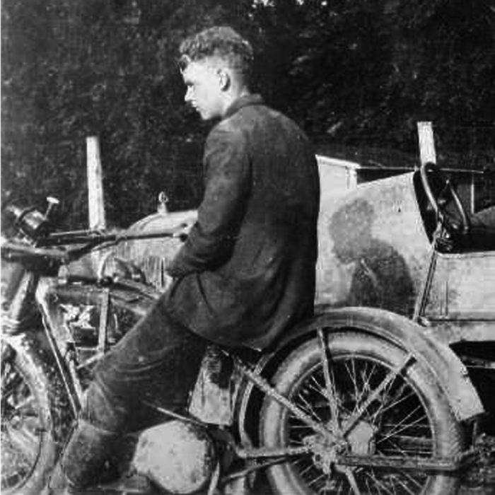 lindbergh en moto