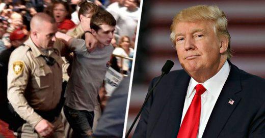 Arrestan al joven que intentó quitarle el arma a un policía para matar a Donald Trump