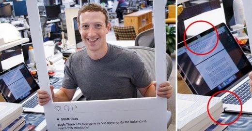 Esta imagen revela que Mark Zuckerberg cubre la webcam de su Mac con cinta adhesiva ¿Por qué?