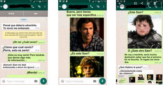 Mujer reclama por WhatsApp que la embarazaron; pero se equivoca de número y así la Trollean