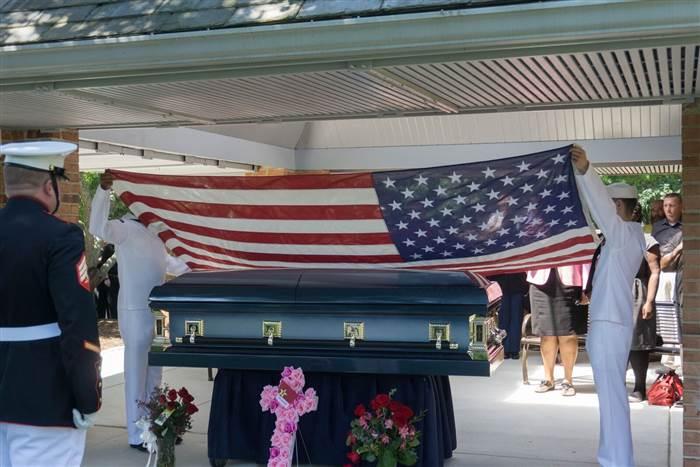 Funeral de veterana de guerra