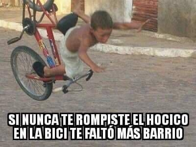 Caída en bicicleta