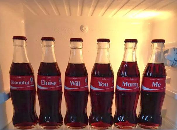 Coca cola propuesta de matrimonio