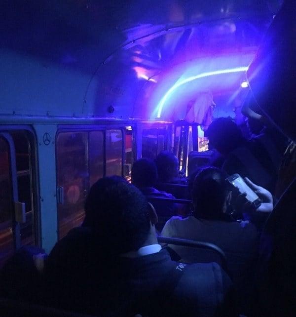 Iluminación en transporte público
