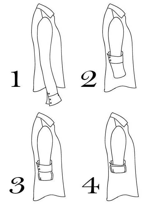 cómo doblar la manga de una camisa