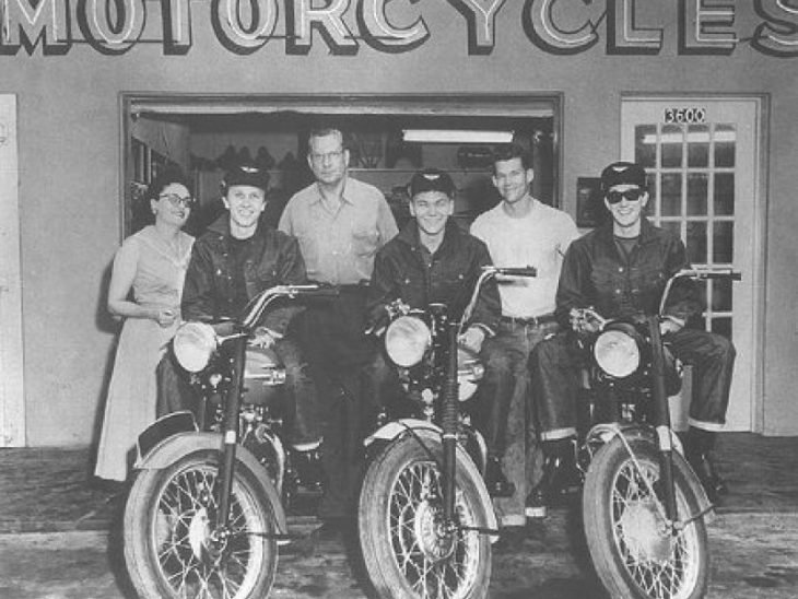 buddy holly en moto